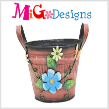 Cute Metal Garden Planter Hard-Working Bee Flower Pot